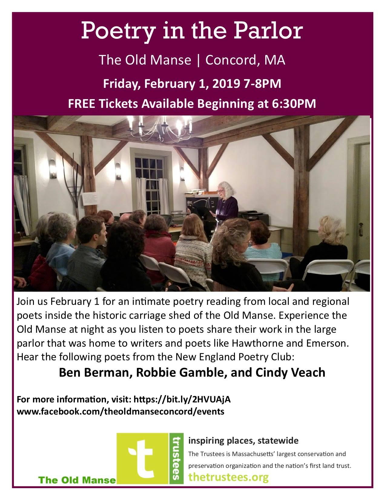 Poetry in the Parlor at The Old Manse in Concord | New